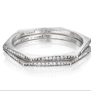 Medina Hexagon Pave Bangle Set